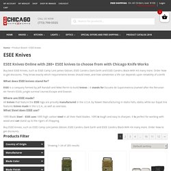 Buy ESEE Knives Online with 280+ ESEE knives to choose from