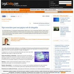 Tips esenciales para una página web de abogados