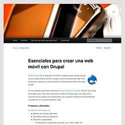 Esenciales para crear una web móvil con Drupal