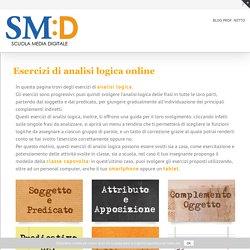 Esercizi di analisi logica online - Scuola Media Digitale