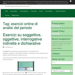 esercizi online di analisi del periodo Archives - Scuola e dintorni