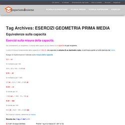 ESERCIZI GEOMETRIA PRIMA MEDIA Archivi - Impariamo Insieme