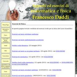 Esercizi di Fisica - Sito personale di Francesco Daddi