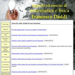 Esercizi sullo studio di una funzione - Sito personale di Francesco Daddi