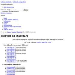 Esercizi da stampare — SìS - Sito web del gruppo di italiano del liceo Sismondi