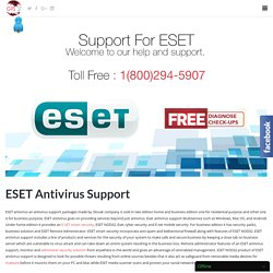 Support For Eset Antivirus Toll Free:-1-800-294-5907