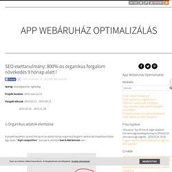 SEO esettanulmány: 800%-os organikus forgalom növekedés 9 hónap alatt ! - App Webáruház Optimalizálás