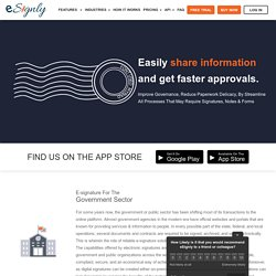 eSignature Software Solutions For Government Sector - eSignly