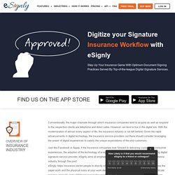 eSignature Solutions For Insurance Industry - eSignly
