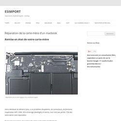 réparation matériel Apple - le blog