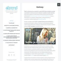 Esittely - SoMe ja Nuoret 2019 - katsaus nuorten sosiaalisen median käytöstä