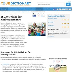 ESL Activities for Kindergarteners