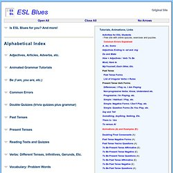 ESL Blues Main Index