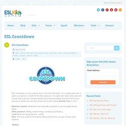 ESL Countdown - ESL Kids Games : ESL Kids Games