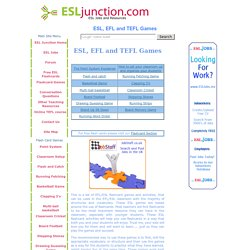 ESL, EFL and TEFL Games and Activities