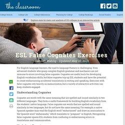 ESL False Cognates Exercises