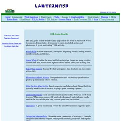 LANTERNFISH: ESL Games and Game Boards