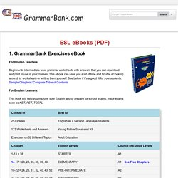ESL Grammar eBooks