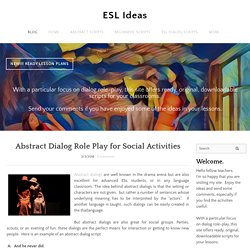 ESL Ideas - Home/Blog