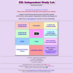 ESL Independent Study Lab