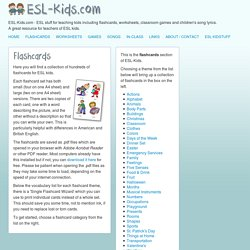 ESL-Kids - ESL Flashcards