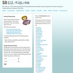 ESL Flashcards | Family