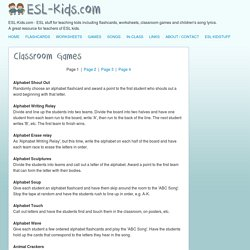 ESL-Kids - ESL Games for the Classroom