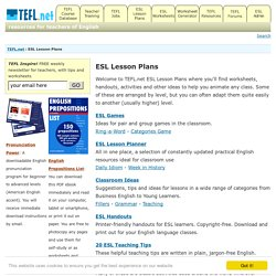 ESL Lesson Plans | TEFL