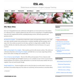 ESL News Sites