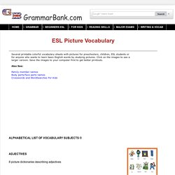 ESL Picture Vocabulary