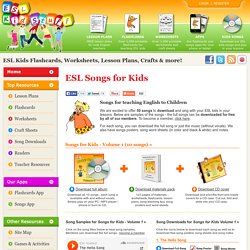 ESL Songs for kids to download