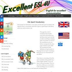 ESL Sport Vocabulary