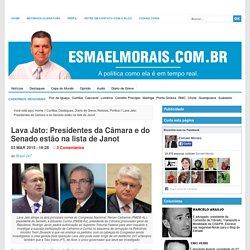 Lava Jato: Presidentes da Câmara e do Senado estão na lista de Janot