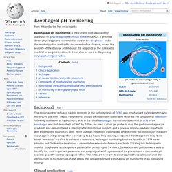 Esophageal pH monitoring - Wikipedia