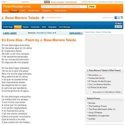 En Esos Días Poem by J. Rosa Marrero Toledo