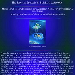 The Rays in Esoteric Astrology Calculation Tables