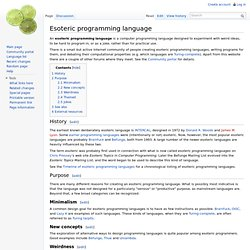 Esoteric programming language