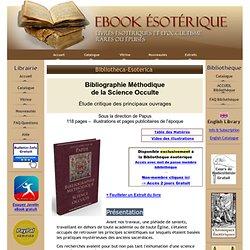 eBook Esotérique - BIB-Bibliographie Méthodique Science Occulte