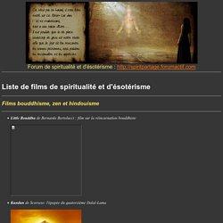 Films spirituels et ésotériques - la Prophétie des Andes et autre film de spiritualité