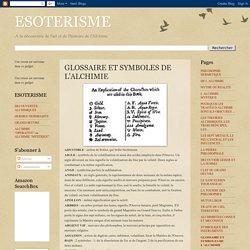 GLOSSAIRE ET SYMBOLES DE L'ALCHIMIE