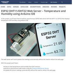 ESP32 DHT11/DHT22 Web Server using Arduino IDE
