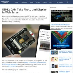 ESP32-CAM Take Photo and Display in Web Server