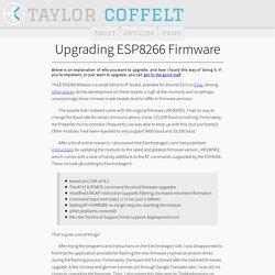 ESP8266 Firmware Update - taylorcoffelt.com