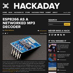 ESP8266 As A Networked MP3 Decoder