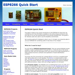ESP8266 Quick Start Guide