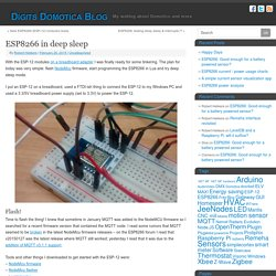 ESP8266 in deep sleep - Digits Domotica Blog