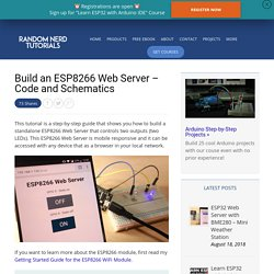 ESP8266 Web Server Tutorial (Code and Schematics)