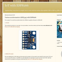 Various accelerometers ADXL345 with ESP8266
