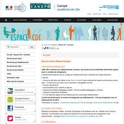 Espace CDI: l'annuaire - Canopé, académie de Lille