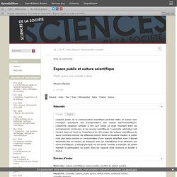 Espace public et culture scientifique